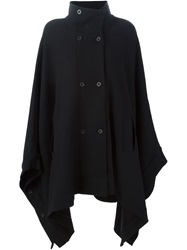 Lost And Found Double Breasted Cape Black