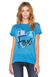 Wildfox Couture I'm A Fox Tee Blue