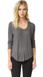 Rag And Bone 90'S Long Sleeve Tee Dark Heather Grey