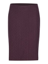 Noa Noa Knee Length Jacquard Pattern Skirt Purple
