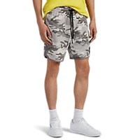 James Perse Camouflage Cotton Basketball Shorts Gray