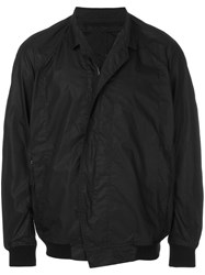 Julius Oversized Zipped Jacket Cotton Nylon Black