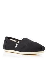 Toms Slip On Flats Classic Canvas Black