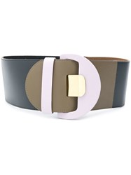 Marni Colour Block Wide Belt Pink And Purple