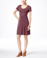 Styleandco. Style Co. Petite Short Sleeve A Line Dress Only At Macy's Pale Raspberry