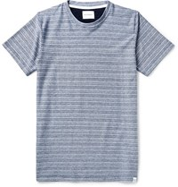 Norse Projects Niels Slim Fit Striped Cotton Jersey T Shirt Navy