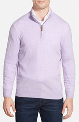 Men's Big And Tall Nordstrom Regular Fit Cashmere Quarter Zip Pullover Purple Beam