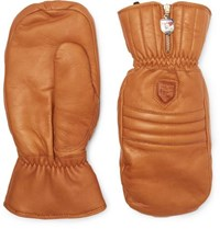 Hestra Shearling Mittens Brown