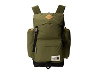 The North Face Rucksack Burnt Olive Green Tnf Black Backpack Bags