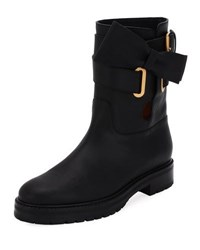 Valentino Now Wrap Vitello Biker Boot Black