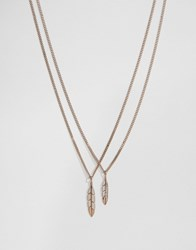 Mister Feather Necklace In Rose Gold Rose Gold