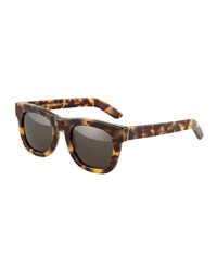 Super By Retrosuperfuture Super Ciccio Tortoise Green Sunglasses Cheetah