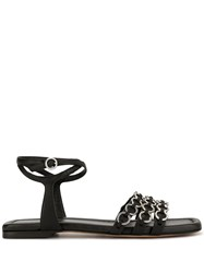 3.1 Phillip Lim Chain Embellished Sandals Black