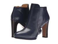 Nine West Gidran Navy Leather Women's Boots Blue