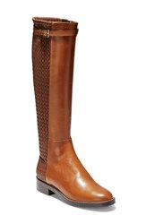 Cole Haan Lexi Grand Knee High Stretch Boot British Tan Leather