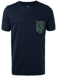Fendi Embellished T Shirt Blue