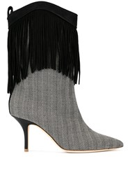 Malone Souliers Black Presley 70Mm Fringed Booties 60