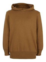 Topman Brown Tobacco Knitted Oversized Hoodie