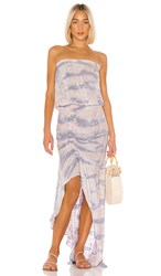 Young Fabulous And Broke Dreamboat Dress In Purple. Lilac Ikat Wash