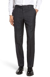 Nordstrom Men's Flat Front Plaid Wool Trousers