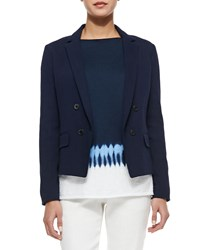 Vince Short Double Breasted Blazer Dark Indigo