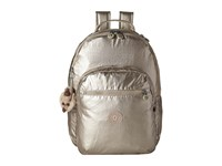 Kipling Seoul Metallic Backpack With Laptop Protection Gleaming Gold Metallic Backpack Bags