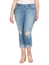 Jessica Simpson Plus Forever Rolled Ankle Jeans Burbank