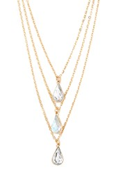 Forever 21 Drop Pendant Layered Necklace