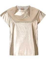 Nude Relaxed Style T Shirt Metallic