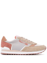 Trussardi Jeans Low Lace Up Sneakers Neutrals