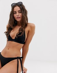 South Beach Halter Bikini Set Black