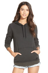 Rvca 'Captivate' Fleece Hoodie Juniors Black