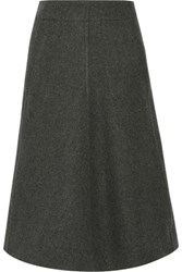 Christophe Lemaire Melton Wool Midi Skirt Anthracite