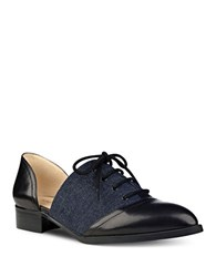 Nine West Nevie Leather Cutout Oxfords Black