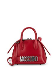Moschino Chic Leather Satchel Red