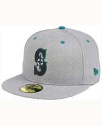 New Era Seattle Mariners Dual Flect 59Fifty Cap Heather Gray Reflective Silver