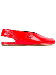 Isabel Marant Slingback Ballerina Shoes Red