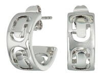 Marc Jacobs Icon Cut Out Small Hoop Earrings Silver