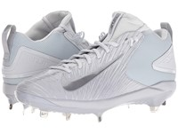 Nike Trout 3 Pro Baseball Cleat Wolf Grey Metallic Dark Grey Pure Platinum White Men's Cleated Shoes Gray