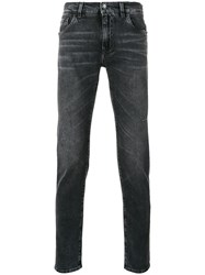 Dolce And Gabbana Slim Cut Jeans Men Cotton Spandex Elastane 56 Grey