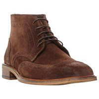 Bertie Canister Brogue Boots Brown