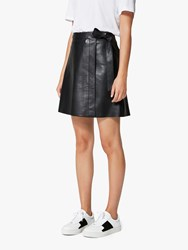 Selected Femme Maria Leather Skirt Black