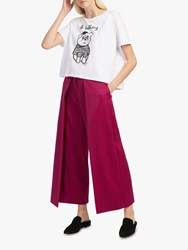 French Connection Ellesmer Culottes Baked Cherry Red
