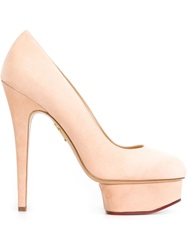 Charlotte Olympia 'Dolly' Platform Pumps Nude And Neutrals