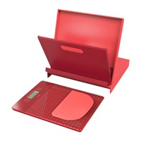 Venn Cookbook Stand And Scales Set Red