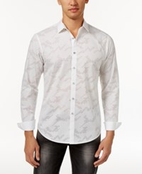 Inc International Concepts Men's Perforated Shirt Only At Macy's White
