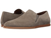 Aquatalia By Marvin K Irwin Grey Dress Suede Men's Slip On Shoes Brown