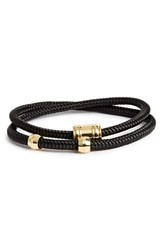 Miansai Men's Double Wrap Rope Bracelet Solid Black