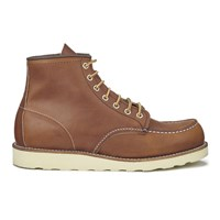 Red Wing Shoes Red Wing Men's 6 Inch Moc Toe Leather Lace Up Boots Oro Legacy Tan