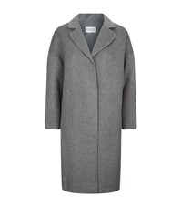 Claudie Pierlot Galva Double Face Wool Mix Coat Female Grey